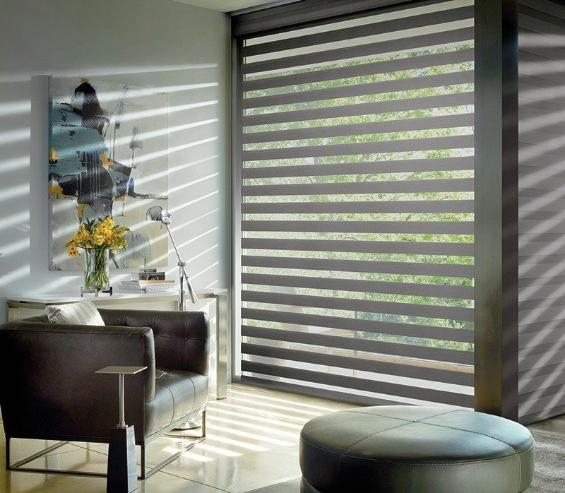 modern designer banded shades in chandler arizona